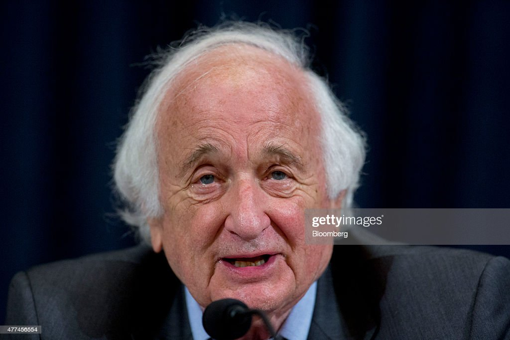 Representative Sander Levin, a Democrat from Michigan, makes an opening statement during a House Ways and Means Committee hearing on long-term financing of the Highway Trust Fund in Washington, D.C., U.S., on Wednesday, July 17, 2015. House Ways and Means Committee Chairman Paul Ryan said he is 'all ears' when it comes to suggestions for how to replenish the Highway Trust Fund, with the exception of raising the federal gas tax. A short-term highway patch expires July 31. Photographer: Andrew Harrer/Bloomberg via Getty Images