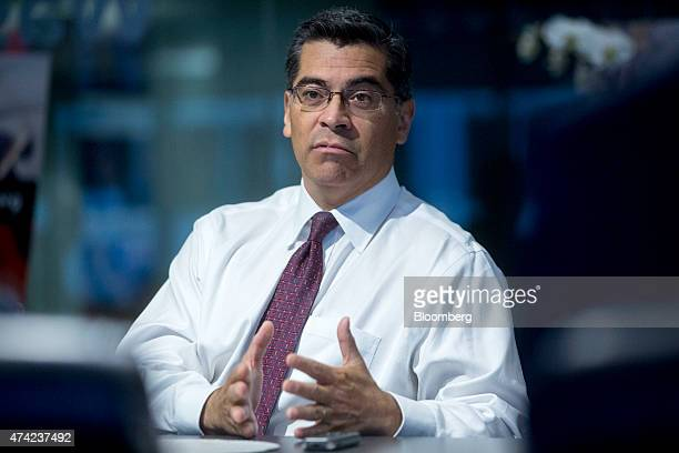 Representative Xavier Becerra a Democrat from California speaks during an interview in Washington DC US on Thursday May 21 2015 Becerra the number 4...