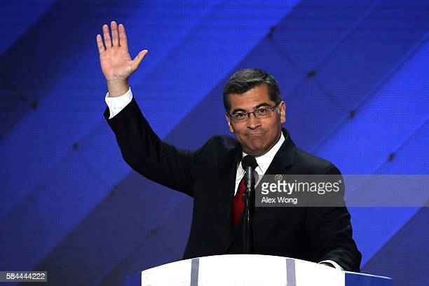 S Representative Xavier Becerra delivers remarks on the fourth day of the Democratic National Convention at the Wells Fargo Center July 28 2016 in...