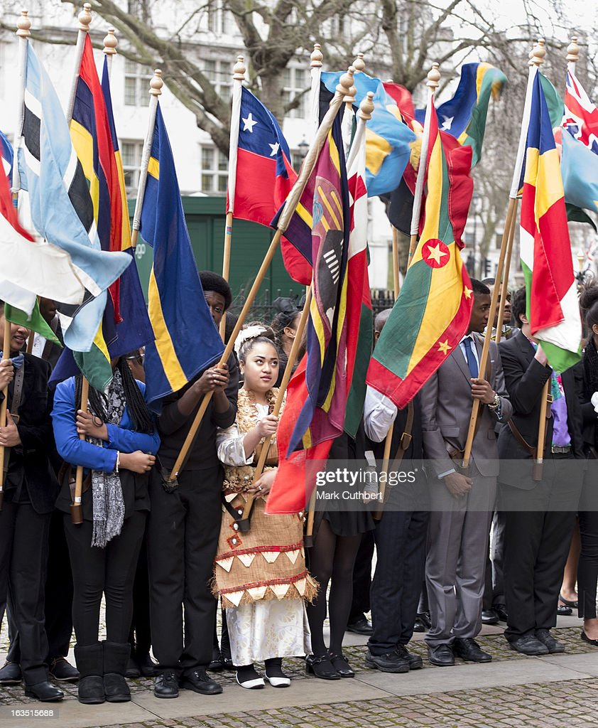 Representatives from the Commonwealth countries at The Commonwealth Day Observance at Westminster Abbey on March 11, 2013 in London, England.