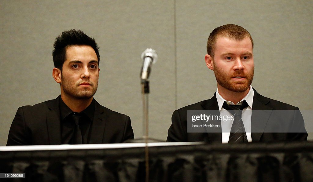 Representatives from the Tryst and XS nightclubs Jared Garcia (L) and John Wood participate in a panel discussion at the 28th annual Nightclub & Bar Convention and Trade Show at the Las Vegas Convention Center on March 19, 2013 in Las Vegas, Nevada.