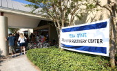 FEMA representatives have setup locations on Galveston Island to provide emergency needs to the residents in the wake of Hurricane Ike September 30...