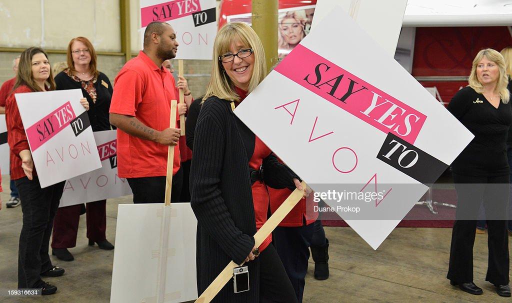 Representatives mingling as Avon Kicks off the SAY YES TO AVON BEAUTY on January 11, 2013 in Columbus, Ohio.
