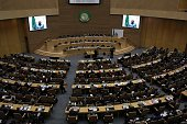 Representatives of African countries attend the 26th Ordinary Session of African Union at the African Union Headquarters in Addis Ababa Ethiopia on...