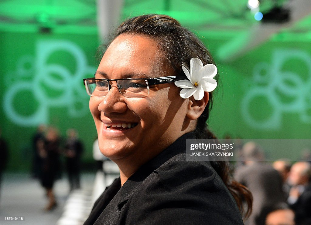 A representatives of Cook Islands attends a plenary session of United Nations Climate Change Conference COP 19 on November 11, 2013 in Warsaw. Nations launched a new round of talks Monday for a 2015 deal to cut Earth-warming greenhouse gas emissions in the aftermath of a deadly Philippines typhoon the UN's climate chief labelled 'sobering'.