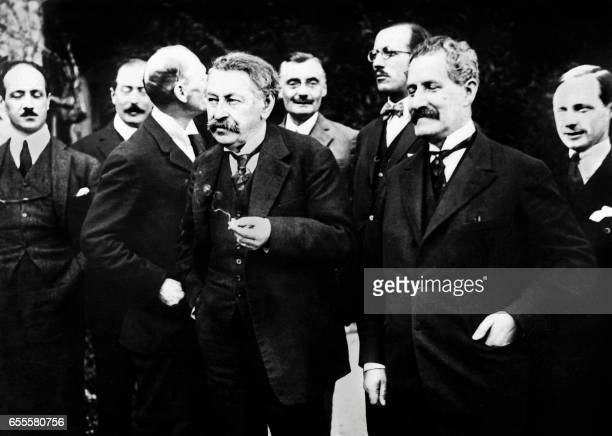 Representatives of France's with Aristide Briand are seen during the Locarno treaties in October 1925 The Treaties guaranteed permanent frontiers...
