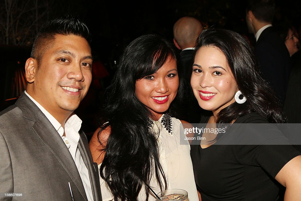 Representatives Paul Macapagal, Evan Dennie and Betty Fernandez attend TOWN Residential's holiday party in celebration of its two year anniversary at the Dream Downtown on December 10, 2012 in New York City.