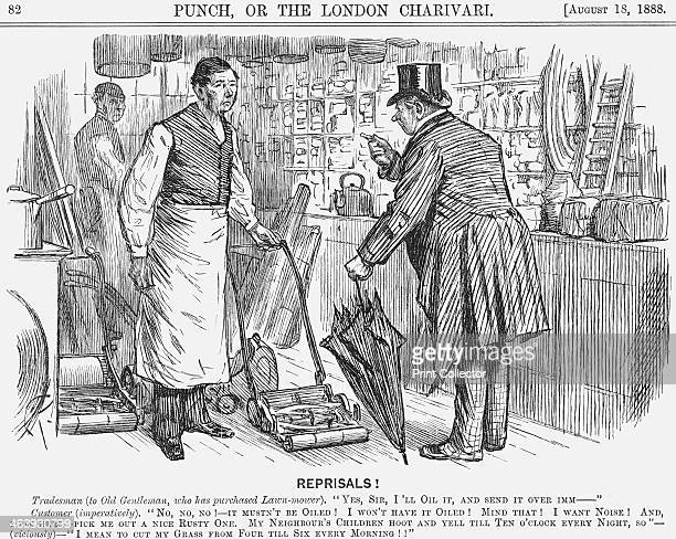 'Reprisals' 1888 The tophatted gentleman has hit upon the perfect revenge for the disturbance he suffers from the neighbour's noisy children From...