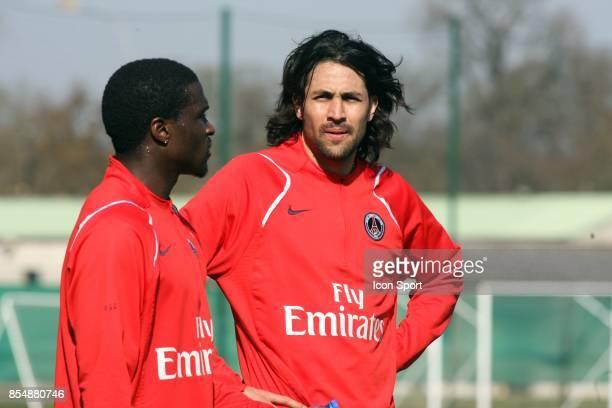 Reprise de l 'entrainement pour Mario YEPES entrainement et decrassage du PSG Camp des loges St Germain en laye