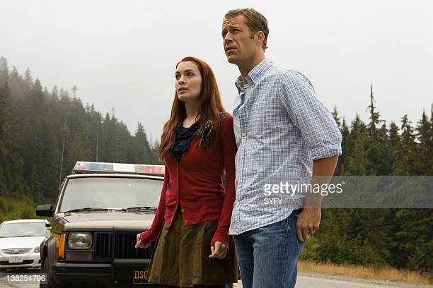 EUREKA 'Reprise' Episode 412 Pictured Felicia Day as Dr Holly Marten Colin Ferguson as Jack Carter