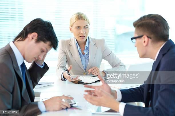 Vorwurf von männlichen Chef