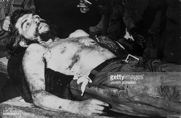 A reproduction taken on November 7 shows a picture of the corpse of Argentine Marxist revolutionary physician author guerrilla leader Ernesto 'Che'...