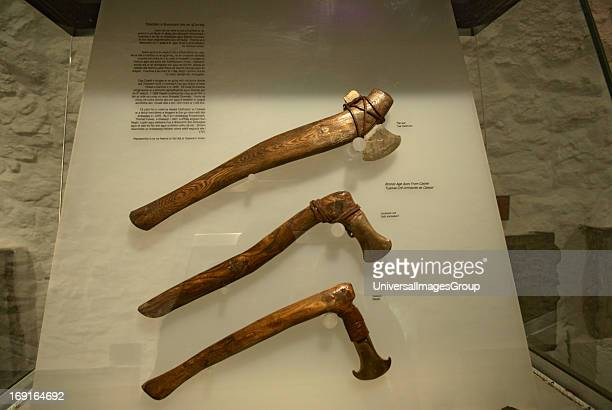 Reproductions of Bronze Age Axes displayed at the Rock of Cashel in Ireland