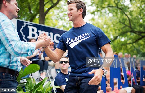 Reps Rodney Davis RIll left and Aaron Schock RIll attend Republican Day at the Illinois State Fair in Springfield Ill August 14 2014