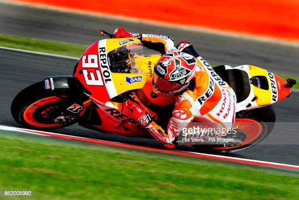 Repsol Honda Marc Marquez during Free Practice 3 at Silverstone Northamptonshire