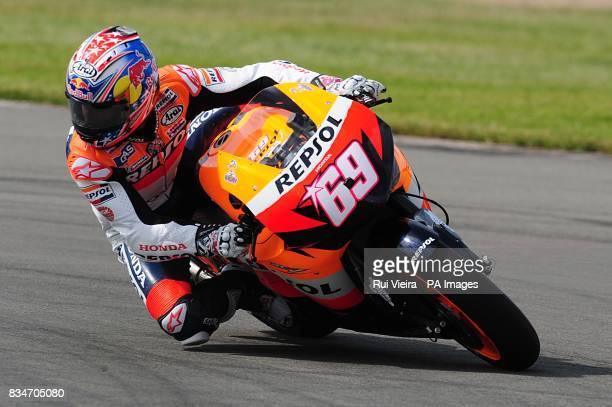 Repsol Honda's Nicky Hayden at Donington Park