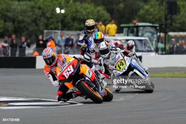 Repsol Honda's Nicky Hayden during the bwincom British Motorcycle Grand Prix at Donington Park