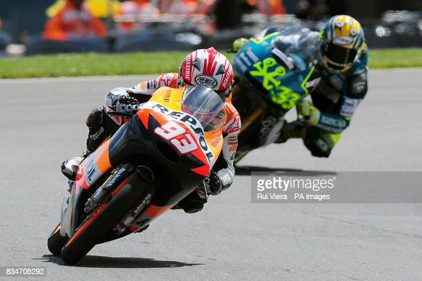 Repsol KTM's Marc Marquez on his KTM 125 FRR during the 125cc Race during the bwincom British Motorcycle Grand Prix at Donington Park