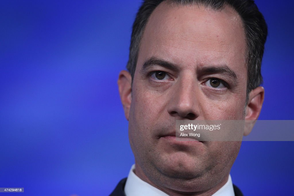 Repubican National Committee Chairman <a gi-track='captionPersonalityLinkClicked' href=/galleries/search?phrase=Reince+Priebus&family=editorial&specificpeople=7419119 ng-click='$event.stopPropagation()'>Reince Priebus</a> pauses as he speaks during the 2015 Southern Republican Leadership Conference May 21, 2015 in Oklahoma City, Oklahoma. About a dozen possible presidential candidates will join the conference and lobby for supports from Republican voters.