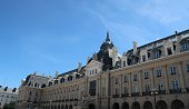 Rennes, France – June 27, 2018: photography showing a building situated around the square called République in Rennes. The photography was taken from the street of the city of Rennes, France.
