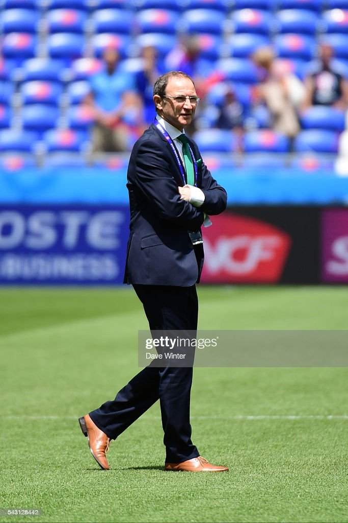 Republic of Ireland coach Martin ONeil before the European Championship match Round of 16 between France and Republic of Ireland at Stade des Lumieres on June 26, 2016 in Lyon, France.