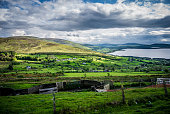 mountain lake in the walley. Location: Lackan, County Wicklow, Ireland.