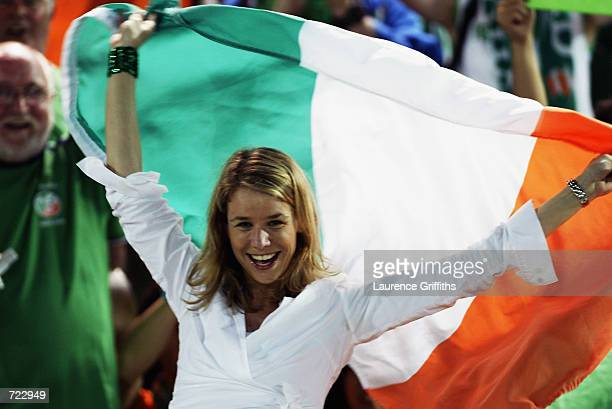 Republic of Ireland fan during the FIFA World Cup Finals 2002 Group E match between Republic of Ireland and Saudi Arabia played at the International...