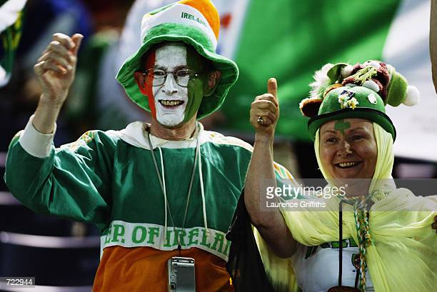 Republic of Ireland fans during the FIFA World Cup Finals 2002 Group E match between Republic of Ireland and Saudi Arabia played at the International...