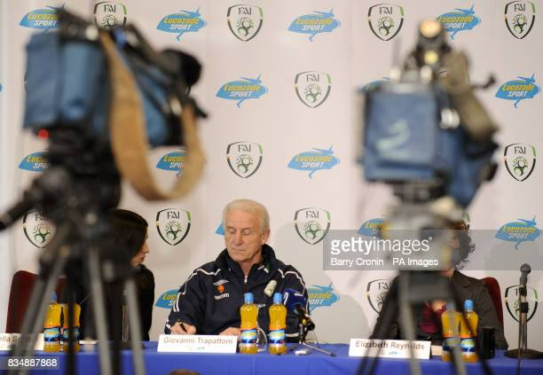 Republic of Ireland manager Giovanni Trapattoni during a press conference to announce a sponsorship agreement with Lucozade Sport at the Grand Hotel...