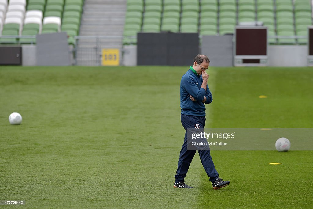 Republic of Ireland manager Martin O'Neill during an open training session at Aviva Stadium on June 3, 2015 in Dublin, Ireland. The Republic of Ireland play England in a friendly game this coming Sunday, the first meeting between the two sides in Dublin since the abandonment of a game in 1995 due to hooliganism.