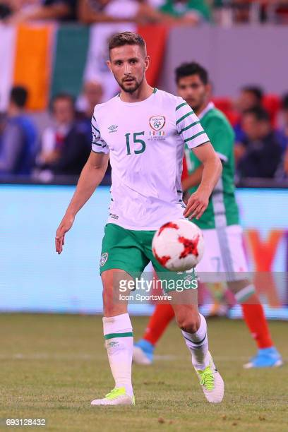 Republic of Ireland midfielder Conor Hourihane during the game between Mexico and the Republic of Ireland on June 01 2017 at Met Life Stadium in East...