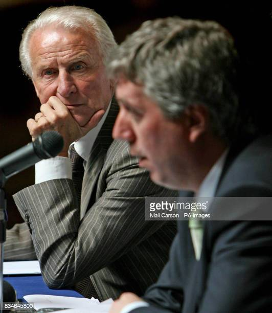 Republic of Ireland soccer manager Giovanni Trapattoni listens to FAI chief executive John Delaney during a press briefing ahead of Mayoral Reception...