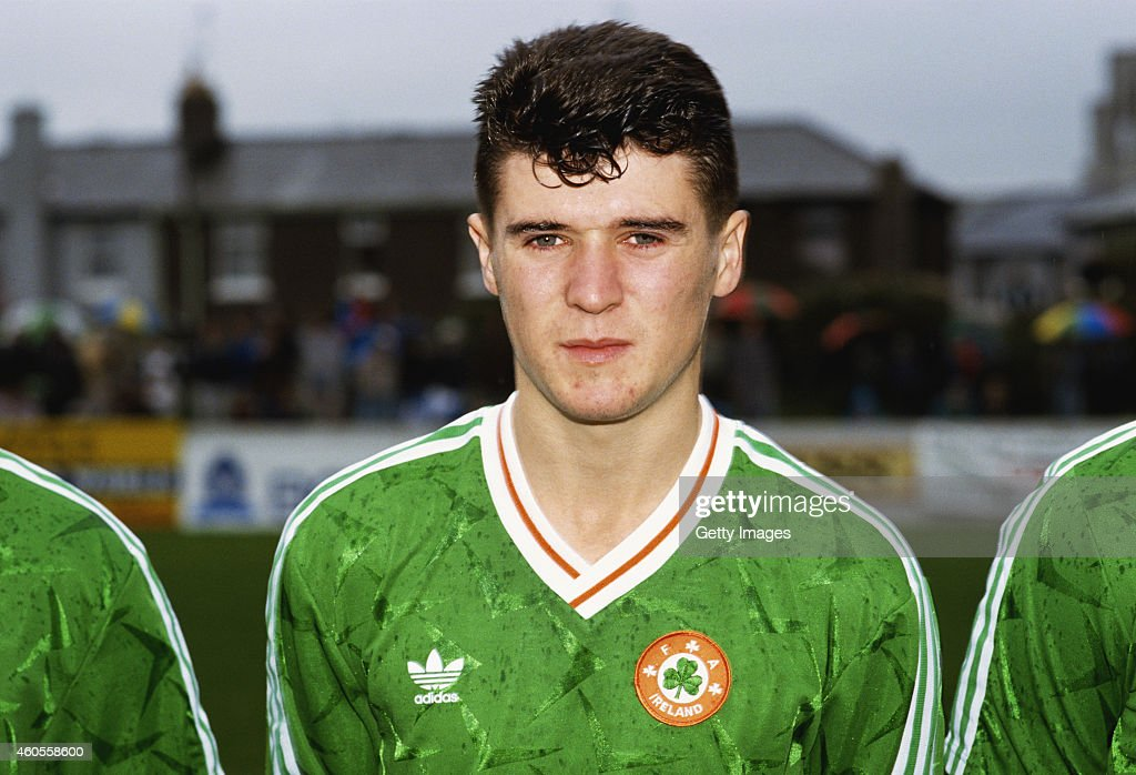 Republic of Ireland under 21 player Roy Keane pictured before a European Championship Qualifier against England on November 13 1990 in Cork Ireland