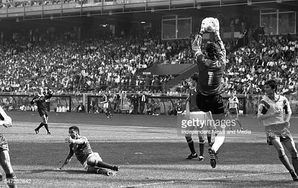 Republic of Ireland v Romania Stadio Luigi Farraris World Cup Italia 90 The score was Republic of Ireland 0 Romania 0 54 penalties which sent the...