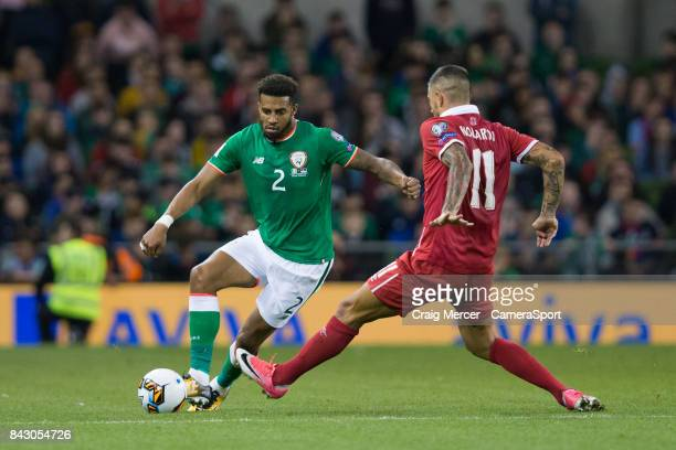 Republic of Ireland's Cyrus Christie in action during the FIFA 2018 World Cup Qualifier between Republic of Ireland and Serbia at Aviva Stadium on...