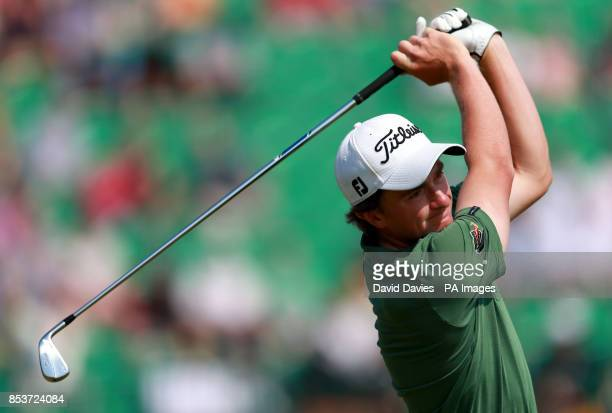 Republic of Ireland's Paul Dunne during day two of the 2014 Open Championship at Royal Liverpool Golf Club Hoylake