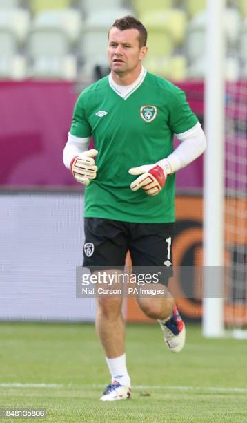 Republic of Ireland's Shay Given during a training session at the PGE Arena Gdansk Poland