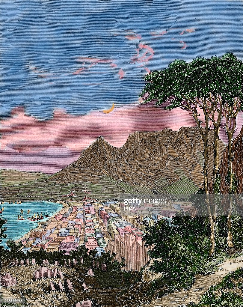 Republic of South Africa Cape of Good Hope Engraving in Weekly Familiar Picturesque 1882 Colored