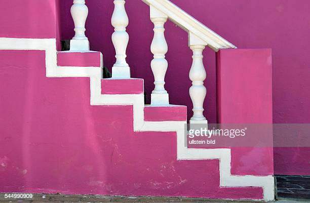 Republic of South Africa Kapstadt Cape Town Bo Kaap district pink house