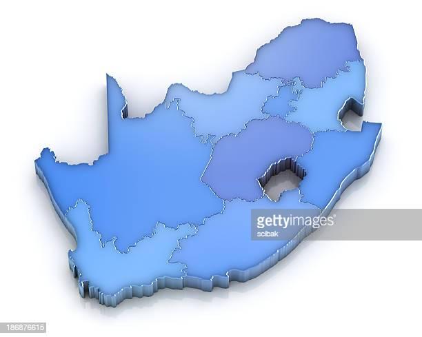 Carte de la République d'Afrique du Sud avec Provinces