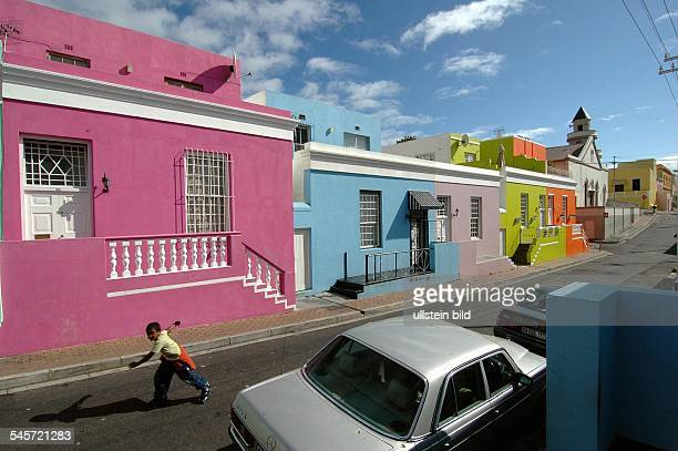 Republic of South Africa Western Cape Cape Town colourful facades in the Malaysian BoKaap district