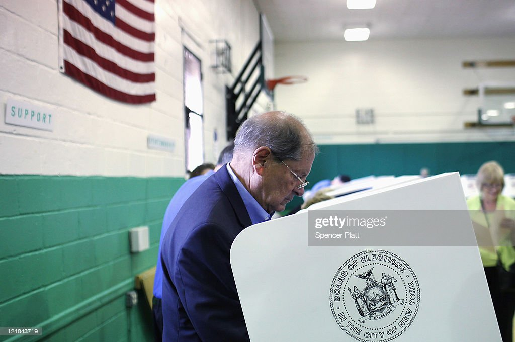 Republican Bob Turner, who is running for U.S .Congress in a race in New York's heavily Democratic 9th District, votes at a polling station on September 13, 2011 in New York City. Turner is running against Democratic Assemblyman David Weprin to succeed former U.S. Rep. Anthony Weiner (D-NY) who resigned in June after admitting he sent partially nude photos of himself to women via the Internet. The race has received strong media attention as it is being viewed as a possible bellwether of support for U.S. President Barack Obama.