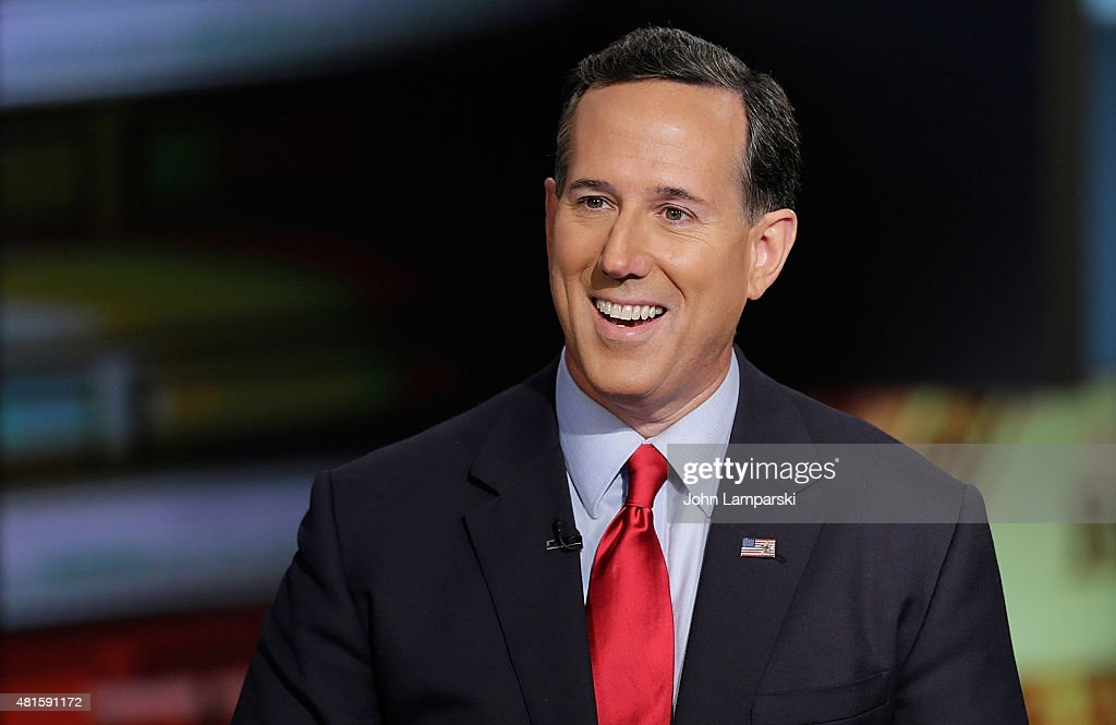 Republican candidate for USA President and former Senator from Pennsylvania , Rick Santorum visits 'Cavuto: Coast To Coast' at FOX Studios on July 22, 2015 in New York City.