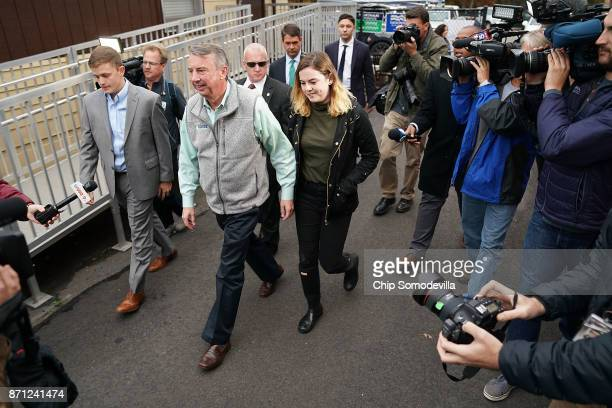 Republican candidate for Virginia governor Ed Gillespie arrives to cast his vote at the polling place at Washington Mill Elementary School November 7...