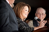 Republican candidate Michele Bachmann announces that she's pulling out of the campaign for US president the day after finishing next to last in the...