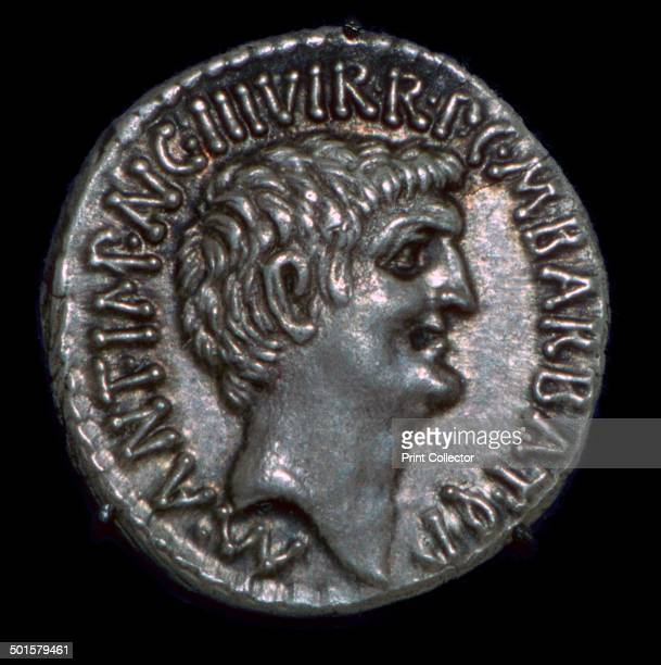 Republican coin of Mark Antony obverse head facing right 1st century BC One of the members of the triumvirate he eventually committed suicide with...