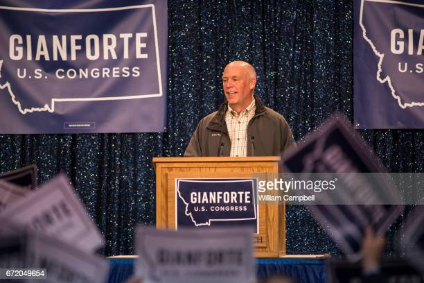 Republican Greg Gianforte campaigns for the Montana House of Representatives seat vacated by the appointment of Ryan Zinke to head the Department of...