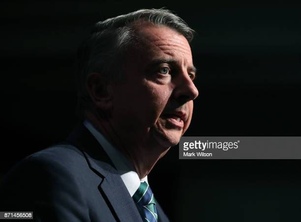 Republican gubernatorial candidate Ed Gillespie speaks at an electionnight rally on November 7 2017 in Richmond Virginia Gillespie was projected to...