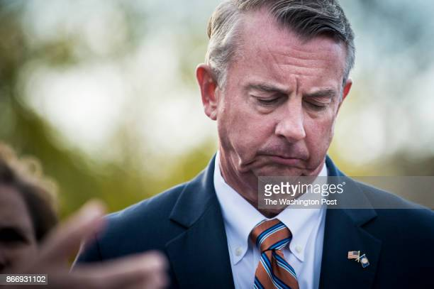 Republican gubernatorial nominee Ed Gillespie during a press conference at the Fairfax County Government Center on Thursday October 26 2017 in...