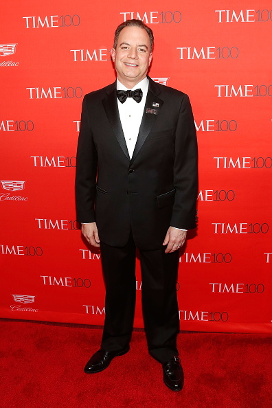 Republican National Committee Chairman Reince Priebus attends the 2016 Time 100 Gala at Frederick P Rose Hall Jazz at Lincoln Center on April 26 2016...
